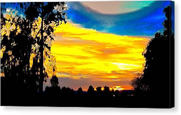 Willy's Sunset Canvas Print by Cadence Spalding