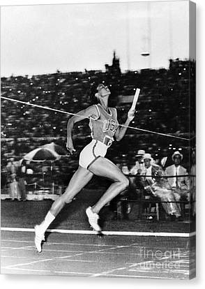 Footrace Canvas Print - Wilma Rudolph (1940-1994) by Granger