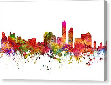 Wilmington Cityscape 08 Canvas Print
