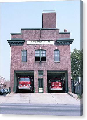 City Of Wilmington Fire Department, Delaware - Historic Fire Station No 6 Canvas Print