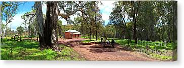 Canvas Print featuring the photograph Wilpena Pound Homestead by Bill Robinson