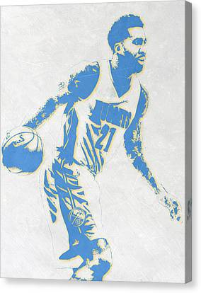 Wilson Chandler Denver Nuggets Pixel Art Canvas Print by Joe Hamilton