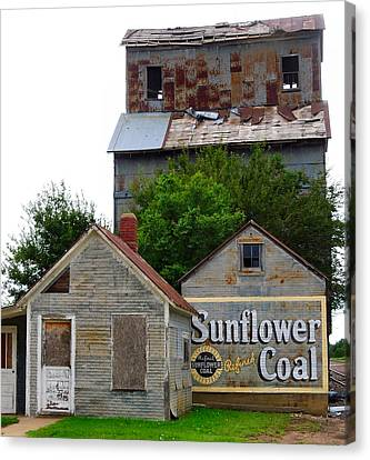 Old Feed Mills Canvas Print - Wilson Kansas Grain Mill #1 by Lynne and Don Wright