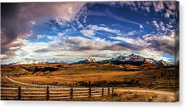 Brown Ranch Trail Canvas Print - Wilson Mesa At Autumn by Andrew Soundarajan