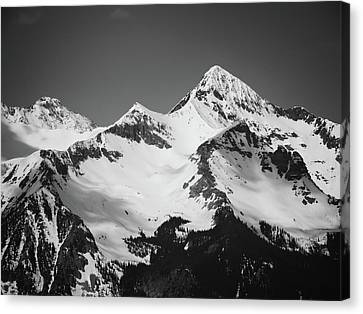 Wilson Peak B W Canvas Print by Connor Beekman