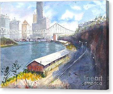 Wilson's Lookout Brisbane Canvas Print