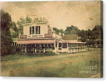 Wilson's Restaurant And Ice Cream Parlor Canvas Print by Joel Witmeyer