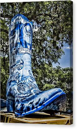 Wimberley Blue Boot Canvas Print by Stephen Stookey