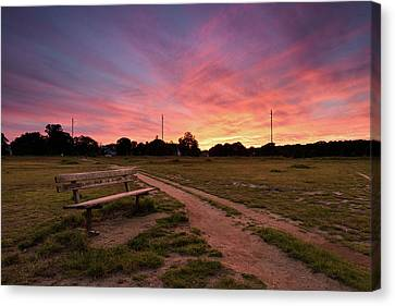 Wimbledon Common Sunset Canvas Print