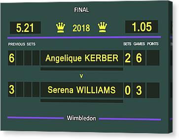Venus Williams Canvas Print - Wimbledon Scoreboard - Customizable - 2017 Muguruza by Carlos Vieira