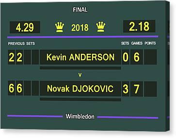 Wimbledon Scoreboard - Customizable Canvas Print