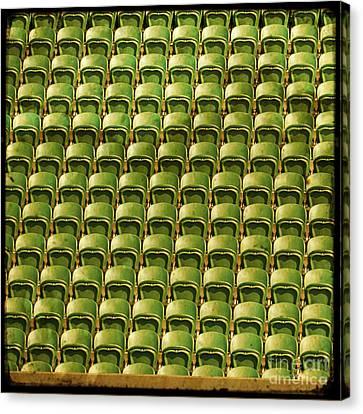 Wimbledon Seats Canvas Print by Sonia Stewart