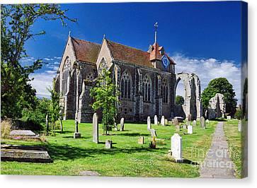 Winchelsea Church Canvas Print by Nigel Fletcher-Jones