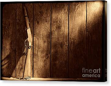 Winchester Canvas Print by American West Legend By Olivier Le Queinec