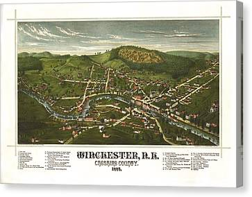Winchester New Hampshire 1887 Canvas Print by Mountain Dreams