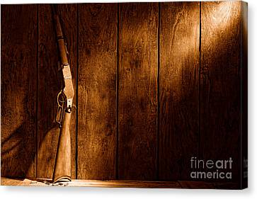 Winchester - Sepia Canvas Print by Olivier Le Queinec