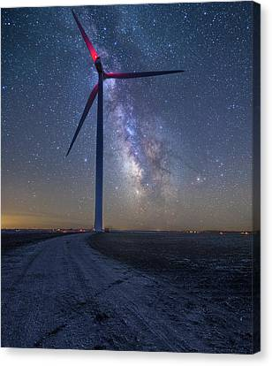 Canvas Print featuring the photograph Wind  by Aaron J Groen
