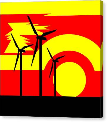 Wind And Sun Canvas Print by Asbjorn Lonvig