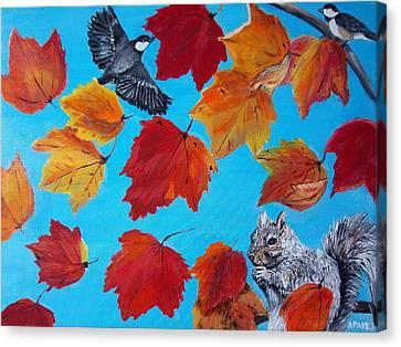Wind And The Autumn Sky Canvas Print by Aleta Parks