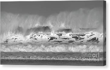 Canvas Print featuring the photograph Wind Blown Waves by Nicholas Burningham
