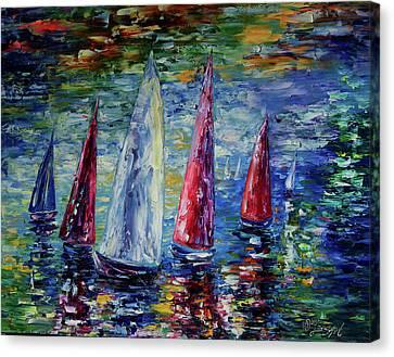 Wind On Sails  Canvas Print