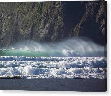 Wind On The Waves Canvas Print by Angi Parks