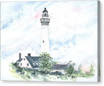 Wind Point Lighthouse Canvas Print by Denise   Hoff