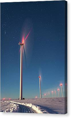 Canvas Print featuring the photograph Wind Power by Cat Connor