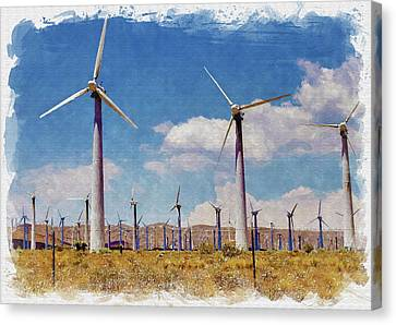 Wind Power Canvas Print by Ricky Barnard