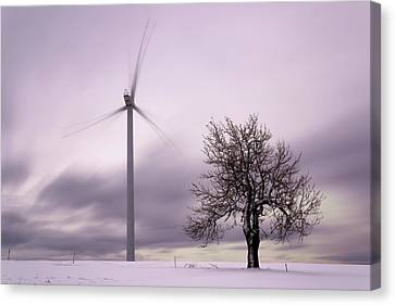 Wind Power Station, Ore Mountains, Czech Republic Canvas Print