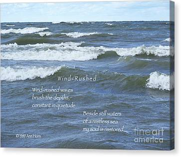 Wind-rushed Canvas Print