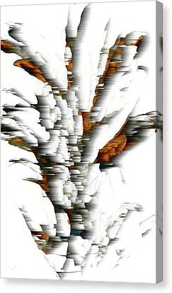 Canvas Print featuring the painting Wind Series 05.072311windblastscvss by Kris Haas