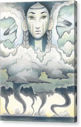 Wind Spirit Dances Canvas Print by Amy S Turner