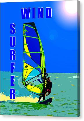 Wind Surfer Poster Canvas Print by David Lee Thompson