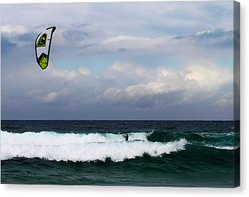 Wind Surfing Surfer's Paradise Canvas Print by Susan Vineyard