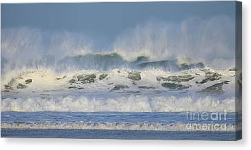Canvas Print featuring the photograph Wind Swept Waves by Nicholas Burningham