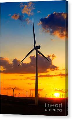 Wind Turbines Canvas Print by Gabriela Insuratelu