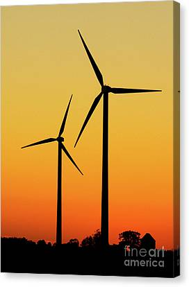 Wind Turbines Canvas Print by Roland Magnusson
