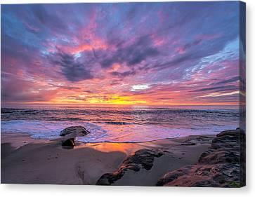 Windansea Beach Sunset Canvas Print