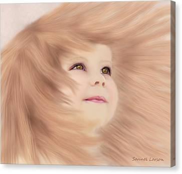 Windblown Child's Play Canvas Print