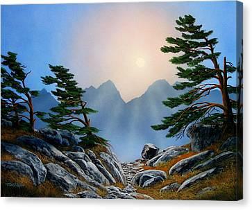 Windblown Pines Canvas Print by Frank Wilson