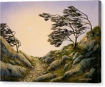 Windblown Warriors Canvas Print by Frank Wilson