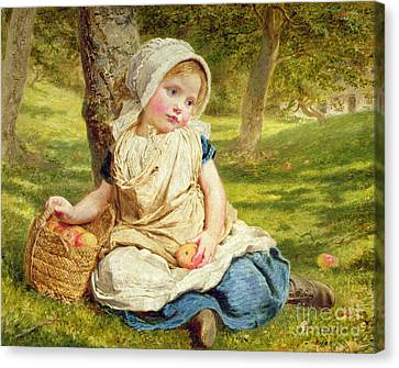 Picker Canvas Print - Windfalls by Sophie Anderson