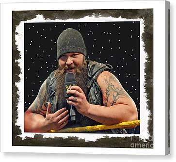 Windham Lawrence Rotunda Pro Wrestling Character Bray Wyatt Canvas Print by Jim Fitzpatrick