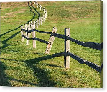 Winding Fences Canvas Print