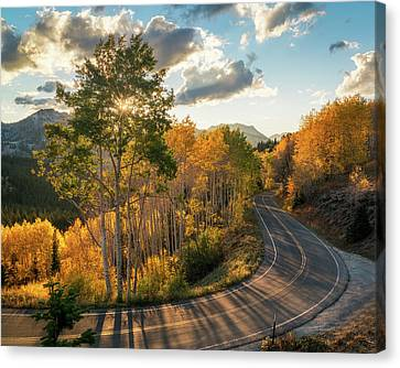 Winding Road Through Big Cottonwood Canyon Canvas Print by James Udall