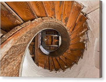 Winding Stairs, Upnor Castle  Kent Canvas Print by Doug McKinlay