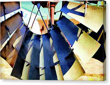 Windmill 2 Canvas Print by Terry Davis