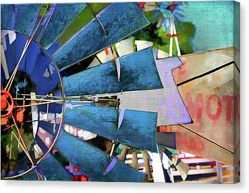Old Mills Canvas Print - Windmill 3 by Terry Davis