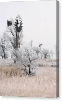Windmill Antithesis Canvas Print by Fred Lassmann